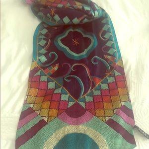 Nicole Miller multicolor 52 inch scarf